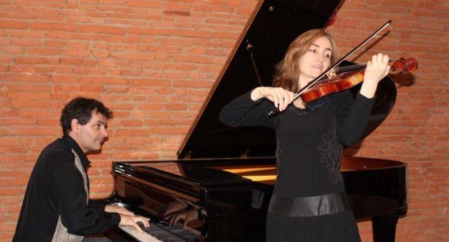 Anne Vanhems, violoniste et Pierre Maréchal, pianiste